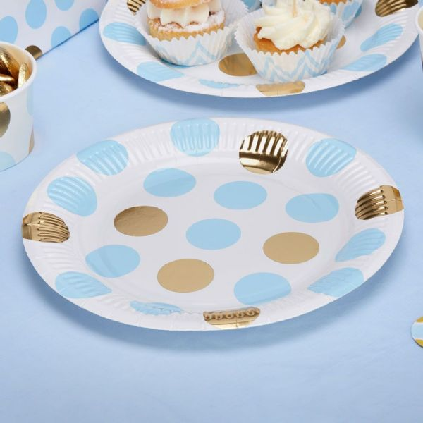 Pattern Works Blue Dots Plates (8)